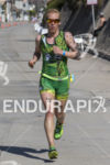 Heather Jackson, USA, on the run at the 2013 Ironman…