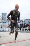 Andy Potts exits the swim on the swim at the…