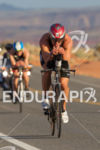 TJ Tollakson on the bike early in the race at…