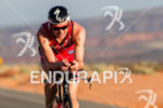 Ben Hoffman working hard on the bike at the  Ironman…