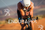 Greg Bennett on bike at the  Ironman 70.3 St. George…