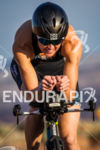 Laura Bennett on bike at the  Ironman 70.3 St. George…