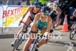 Emma Moffatt (AUS) corners on bike at the 2013 ITU…