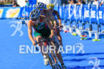 Kate Roberts (RSA) dives into corner at the 2013 ITU…