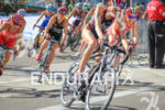 Gwen Jorgensen (USA) dives into corner at the 2013 ITU…