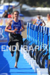 Alistair Brownlee (GBR) runs into T1 for the bike portion…