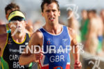 Mark Buckingham on run at the 2013 ITU World Triathlon…