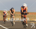 Ivan Vassiliev leading the early miles at the  Ironman 70.3…