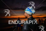 An athlete prepares before the race at the 2013 Ironman…