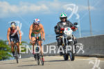 Amanda Stevens leads the way on the bike at 2013…