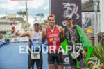 Men's top three at 2013 Ironman Brazil in Florianopolis, SC,…
