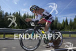 Uli Bromme during the first bike lap at Ironman Coeur…