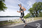 TJ Tollakson during the first run lap at Ironman Coeur…