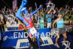 Party time on the finish line of the 2013 Ironman…