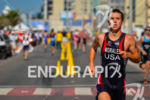 US' Tony Morales running during the Junior male race at…
