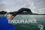 Before the swim start of the Ironman Austria in Klagenfurt,…