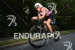 Erika Csomor on the bike at the Ironman Austria in…