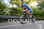 Eva Wutti on the bike at the Ironman Austria in…