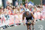 David Plese on the bike at the Ironman Austria in…