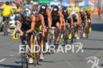 Elite Men's pack at the 2013 Vila Velha ITU Triathlon…