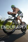 Pete Jacobs on the bike at the Ironman European Championship…