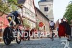 Age group athletes on the bike at the Ironman European…