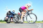 Anja Beranek on the bike at the Ironman European Championship…