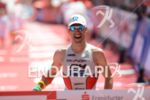 Eneko Llanos at the finish line at the Ironman European…