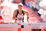 Camilla Pedersen at the finish line at the Ironman European…
