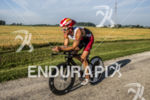 Blake Becker riding his Trek at the 2013 Ironman Muncie…