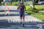 Magali Tisseyre running fast at the 2013 Ironman Muncie 70.3…