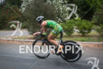 Heather Jackson begins the bike at the Ironman 70.3 Vineman…