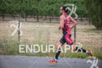 Joe Gambles heads out on the run at the Ironman…