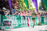 Heather Jackson enjoying the crowd at the finish at the…