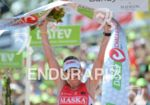 Caroline Steffen at the finish line at the DATEV Challenge…