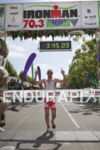 Bevan Docherty is victorious at the 2013 Vineman 70.3 Triathlon…