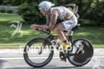 AJ Baucco on his bike at the 2013 Ironman Racine…