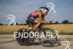 Angela Naeth on her bike at the 2013 Ironman Racine…