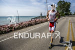 Martin Jensen running strong at the 2013 Ironman Racine 70.3…