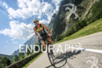 Hervé Faure (FRA) climbing the Col d'Ornon during the bike…