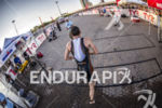 First professional athlete exits swim at the 2013 Ironman Louisville…
