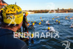 Amateur athlete waiting for race start at the 2013 Ironman…