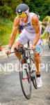 Romain Guillaume pushing the hills at the 2013 Ironman Wisconsin.