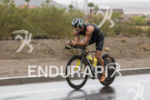 James Hadley riding in the rain at the 2013 Ironman…