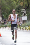Terenzo Bozzone on the run course at the 2013 Ironman…