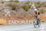 Australia's Annabel Luxford leads the way during the bike course…