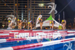 Elite women about to start swim at the Super Sprint…