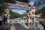 Javier Gomez Noya holding onto first place during the bike…
