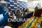 From left to right: Eneko Llanos, Andreas Raelert, Pete Jacobs,…