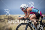 Caitlin Snow on the bike at the 2013 Ironman World…